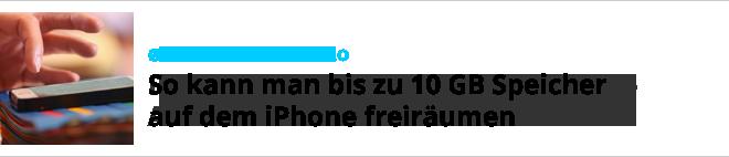 10 GB úložného priestoru pre iPhone