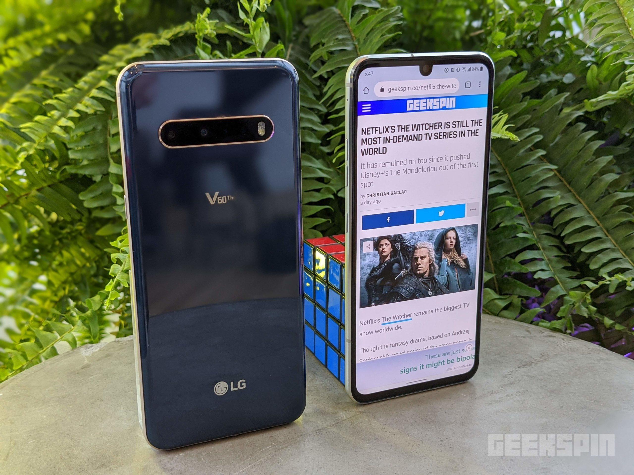 Súpravy LG V60 ThinQ 5G sú doteraz na najväčšom displeji LG spolu so záznamom videa v rozlíšení 8 000 k 1