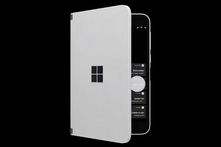 Surface Duo ek nahliadnuť & # 039; funkcia pre volania a oznámenia odhalené vo vytečenom videu 1