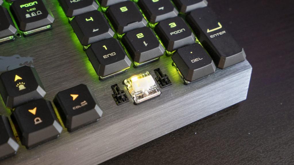 herná klávesnica msi vigor gk50 s nízkym profilom