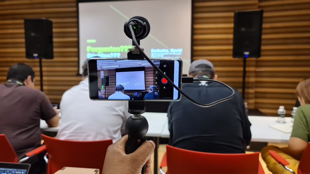 Ukážka fotografovania pomocou mikrofónu