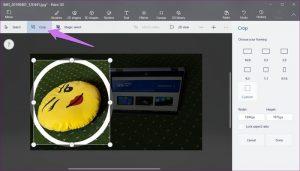 Orezanie fotografie v kruhu pomocou programu Skicár a Maľovanie 3D 18