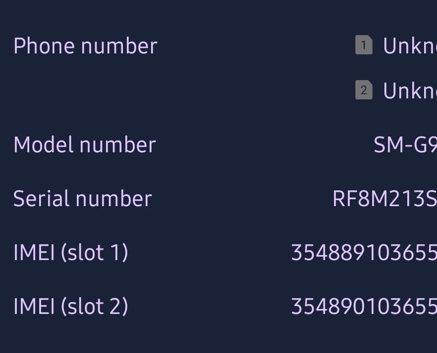 Galaxy S10e: Ako nájsť IMEI 1