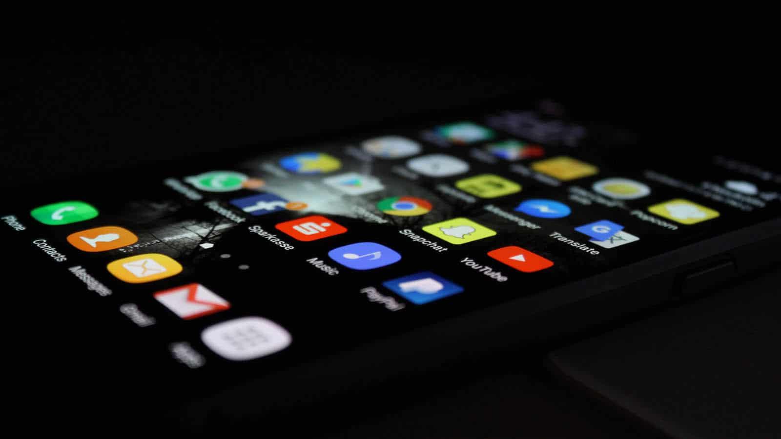 aplikácie na telefóne