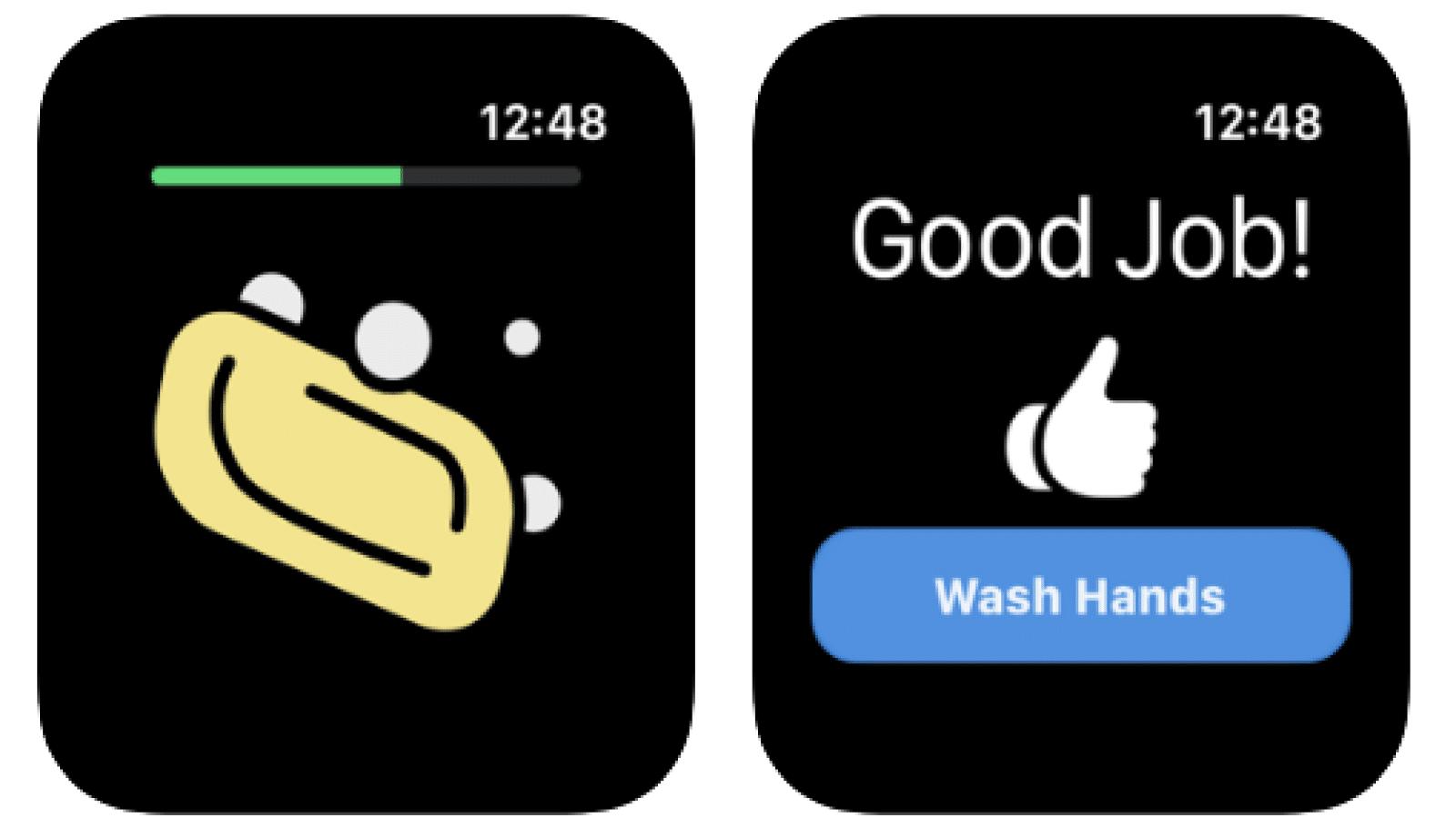 časovač na umývanie rúk pre hodinky Apple