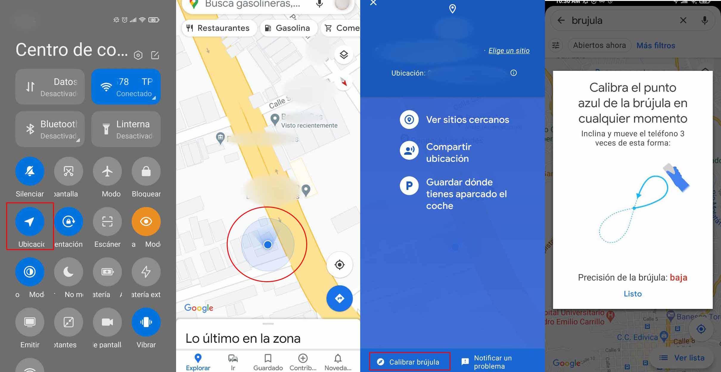 Ako používať kompas Máp Google