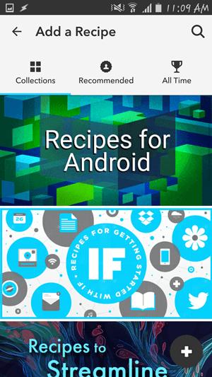 Vopred pripravené recepty na IFTTT