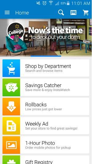 Nákupné aplikácie pre Android - Walmart 1