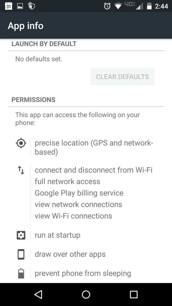 Aplikácia požaduje povolenie polohy.