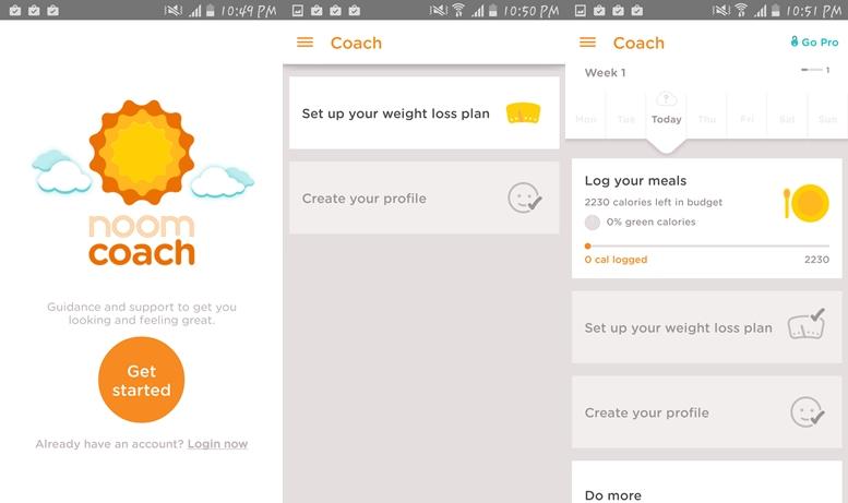 Noom Coach -Aplikácie na chudnutie pre Android