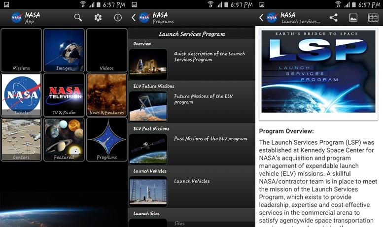 Aplikácia NASA