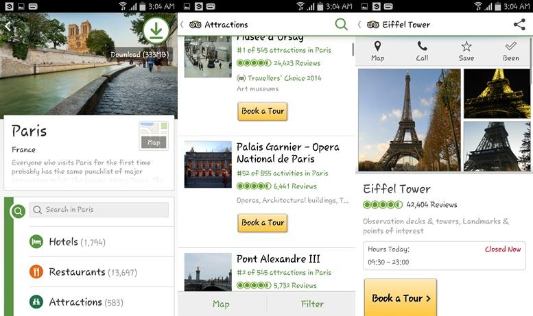 TripAdvisor - cestovné aplikácie pre Android