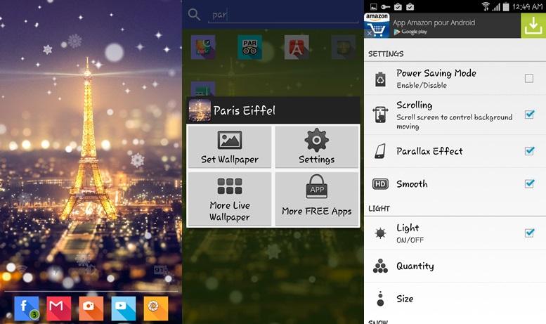 Parížske nočné svetlo