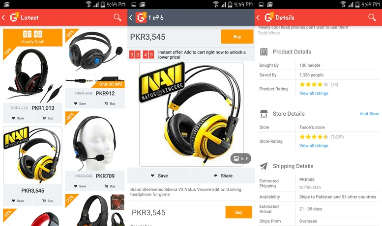 Aplikácie Geek Smarter Shopping pre Android
