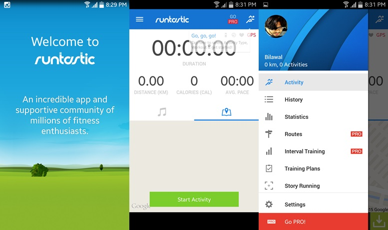 Runtastic - spustené aplikácie pre Android