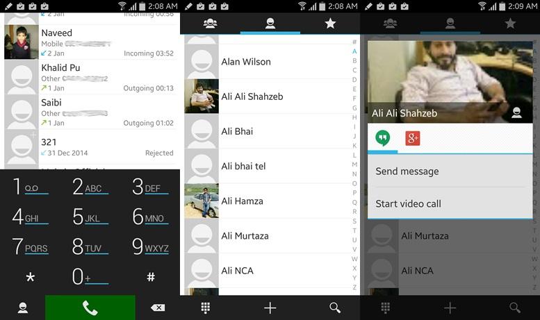 ExDialer - aplikácie pre kontakty pre Android