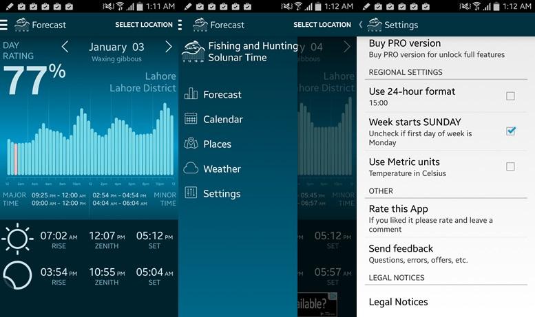 Rybárske a poľovnícke aplikácie pre Android