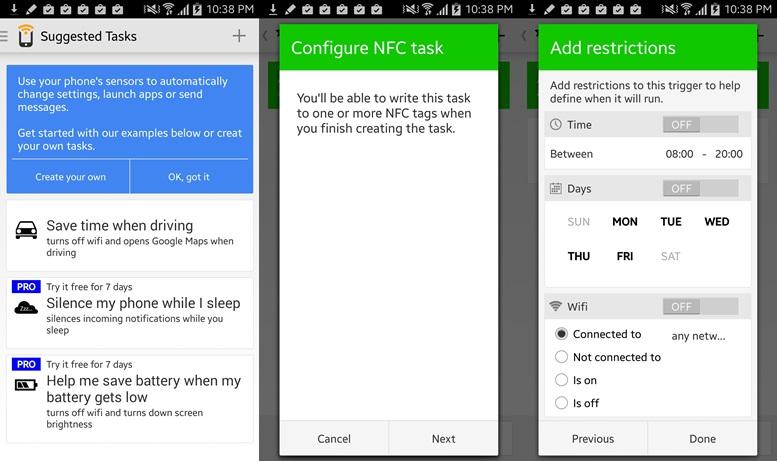 Spúšťač - aplikácie Android Beam