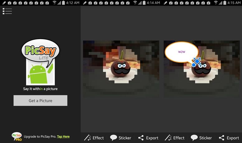 PicSay - najlepšie aplikácie S -Pen pre Galaxy Poznámka
