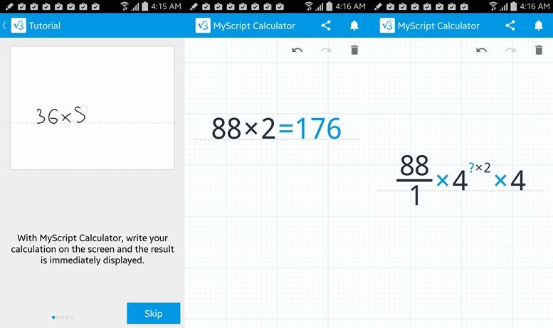 Kalkulačka MyScript
