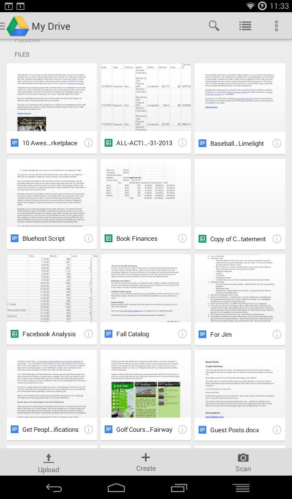 rozhranie disku Google