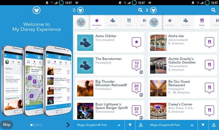My Disney Experience - aplikácie Disney pre Android