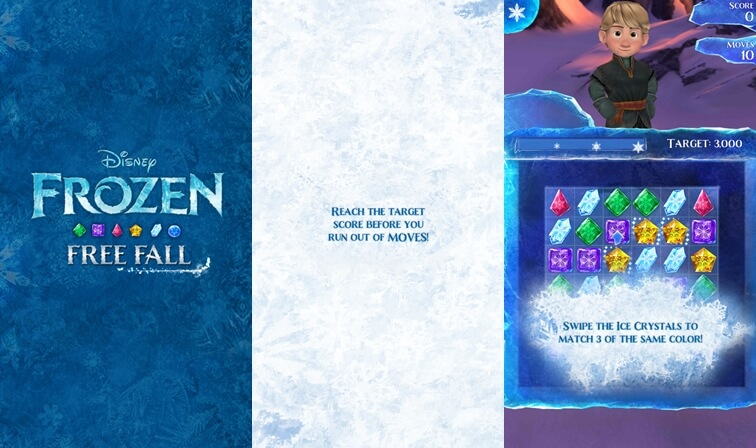 Frozen Free Fall disney aplikácie pre Android