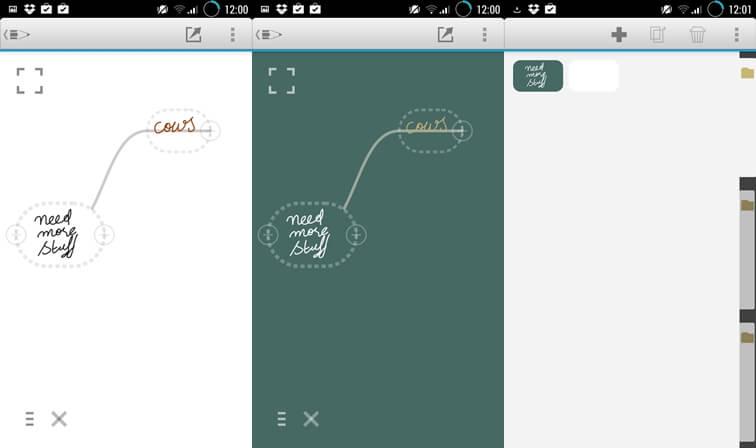 Aplikácie na písanie MindBoard pre Android