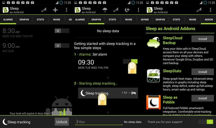 spať ako aplikácia Android pre spánkový cyklus pre Android