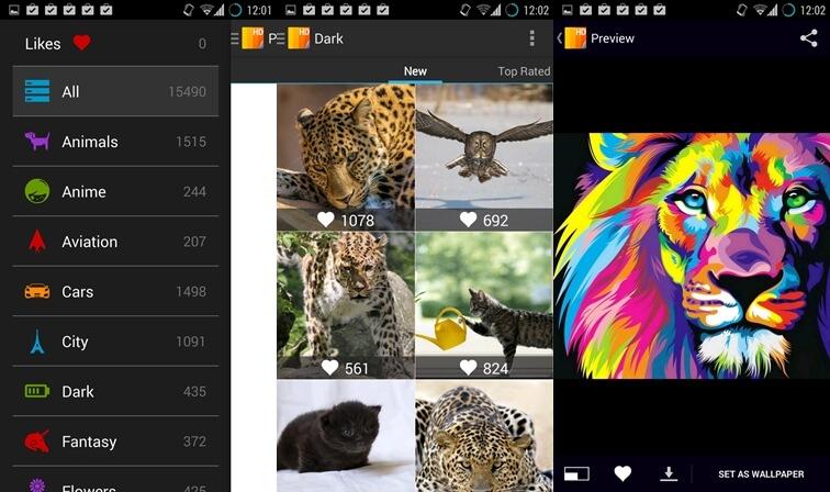 10 najlepších aplikácií pre tapety pre Android