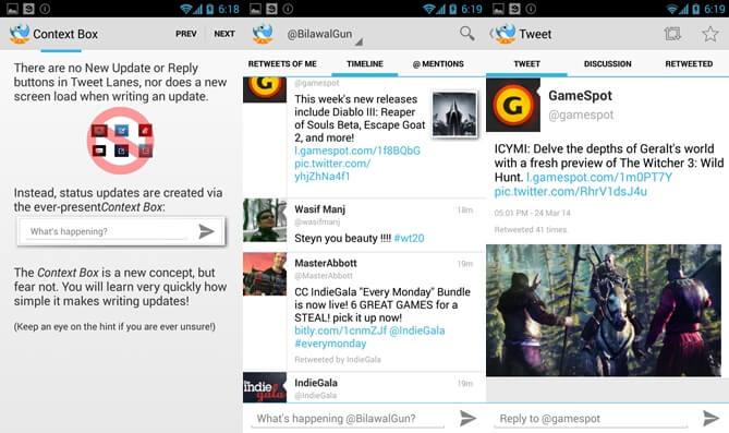 10 najlepších aplikácií twitter pre Android