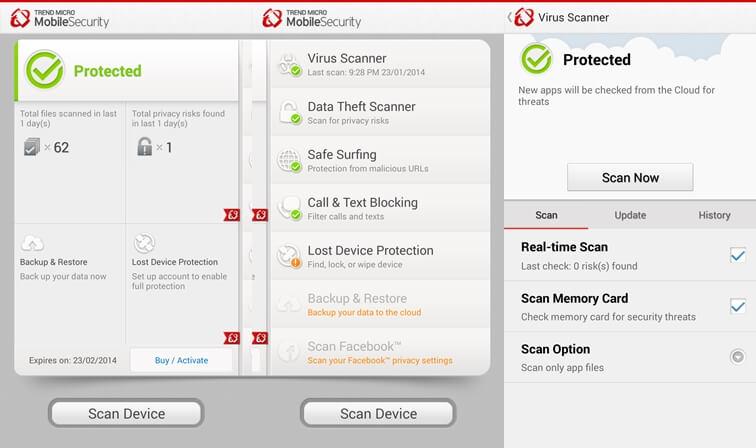Trend Micro Mobile Security Najlepšia aplikácia pre zabezpečenie systému Android