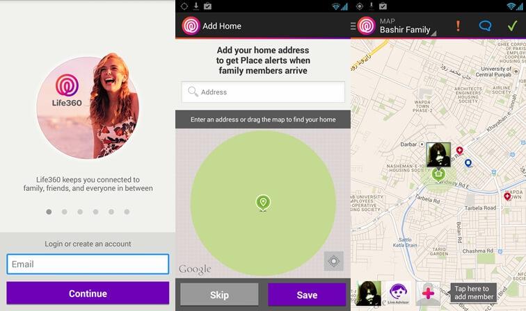 Life360 Najlepšia aplikácia pre zabezpečenie systému Android