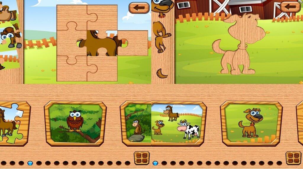 Zábavné puzzle pre deti Batoľa