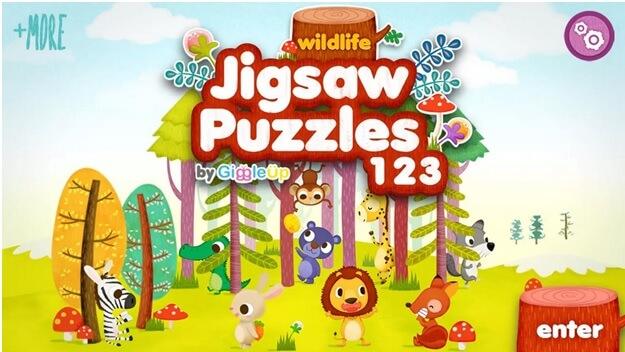 Puzzle s voľne žijúcimi zvieratami
