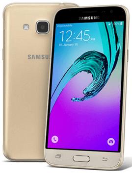 Pohľad spredu a zozadu na Samsung J3