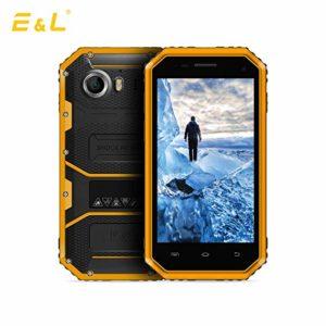 čierny a žltý smartfón E&L W6S