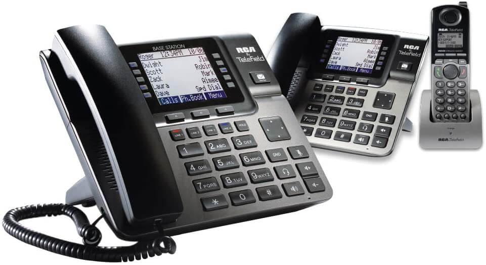 Viaclinkový telefónny systém RCA U1000 pre malé firmy