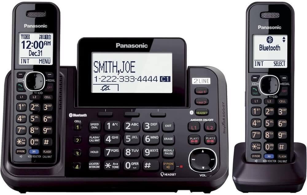 Panasonic 2-Line Bezdrôtový viaclinkový telefónny systém pre malé firmy