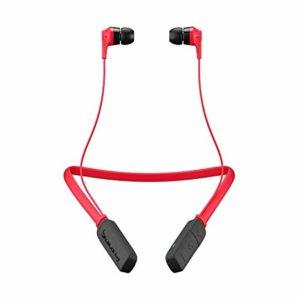 slúchadlá do uší v červenej a čiernej farbe