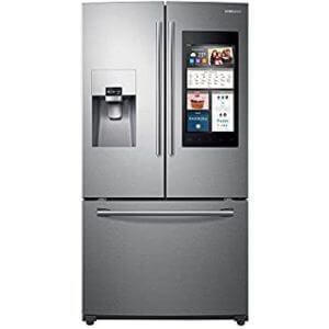Inteligentná chladnička Samsung s francúzskymi dverami 24 cu.  ft. nehrdzavejúca oceľ