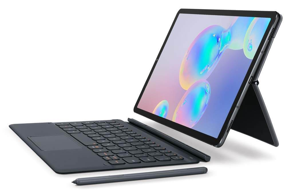 najlepšie-4g-lte-tablet-2019-samsung-galaxy-tab-s6-model-puzdro na klávesnicu