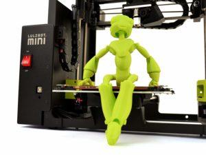 Najlepšie technické darčeky pre umelcov: Výrobok FInish Mini 3D tlačiareň Lulzbot
