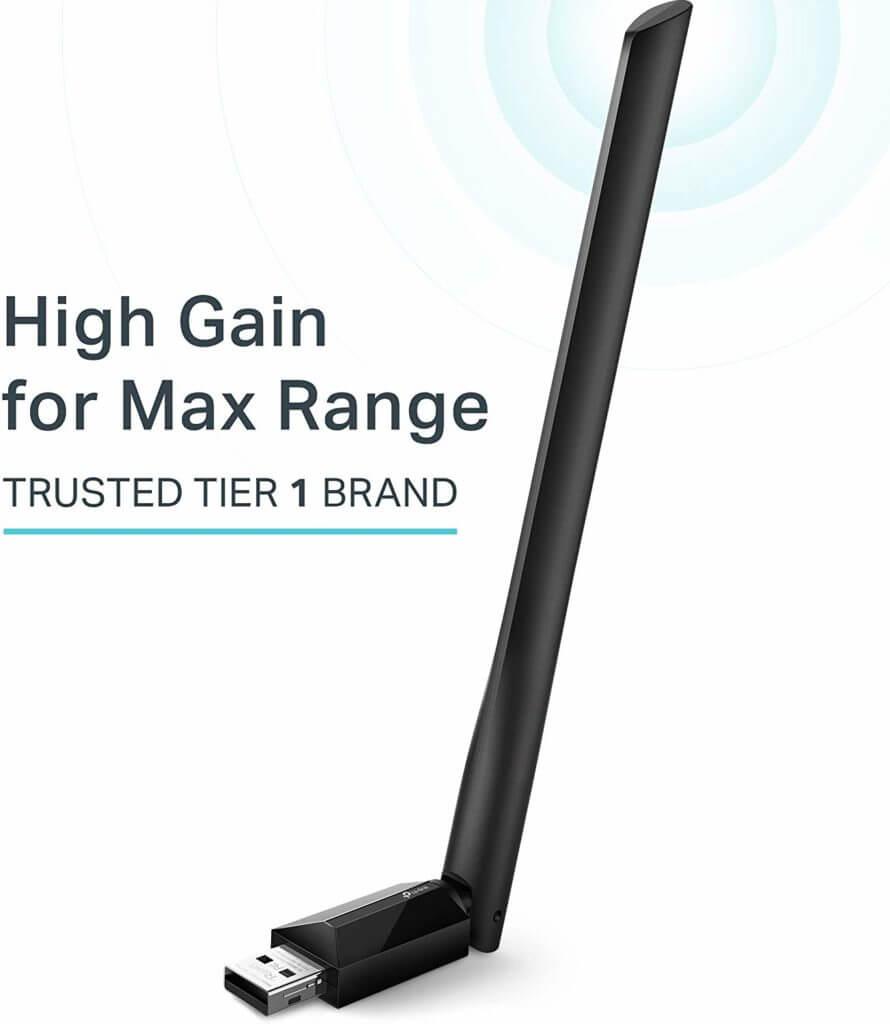 Najlepšie USB Wi-Fi adaptéry: TP-Link AC600 USB Wi-Fi adaptér Bočný pohľad