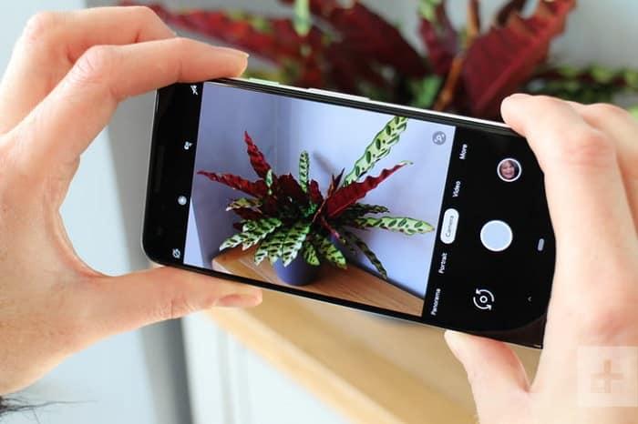 Pixel 3 rozhranie aplikácie pre fotografie