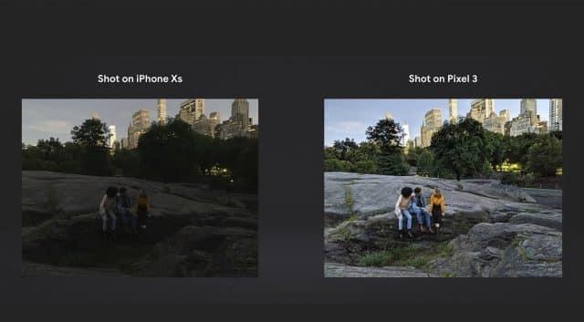 Pixel 3 nočný pohľad