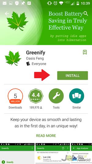 Nainštalujte Greenify