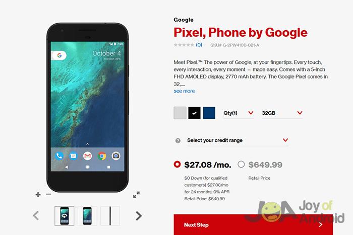 Verizon prináša aktualizáciu Android Nougat na Google Pixel 5