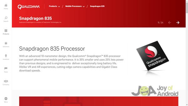 1.  QUALCOMM Snapdragon 835