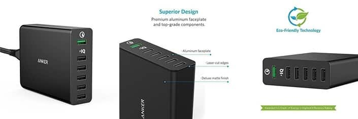 Anker 6-Portová nabíjačka USB